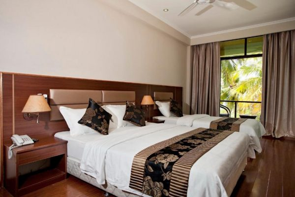 Deluxe Triple Room with Balcony and Sea View- Kaani Beach Hotel